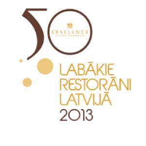 Riviera - 6 vieta Latvijas labāko restorānu sarakstā
